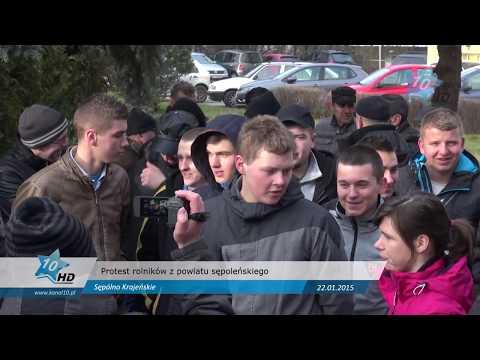 Protest rolników z powatu sępoleńskiego, 22.01.2015 r.