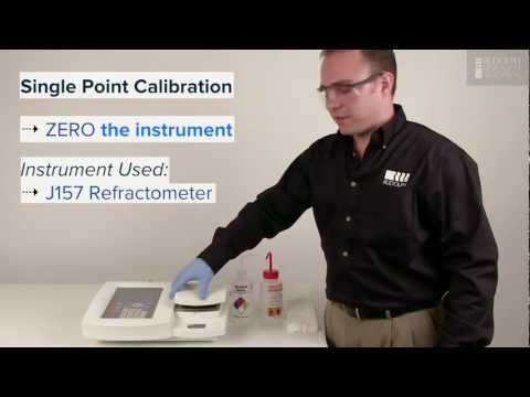 Refractometer Calibration, How to Perform a Single & 2 Point Calibration on a Rudolph J157