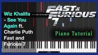 Nonton Wiz Khalifa - See You Again - Piano Tutorial - Fast & Furious 7 + SHEET Film Subtitle Indonesia Streaming Movie Download