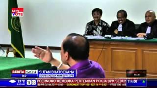 Hakim Marah marah kepada Sutan Batugana yang Ngibul di Kasus Korupsi SKK Migas