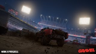 Gameplay stadio in notturna
