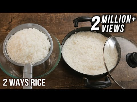 How To Cook Perfect Rice Without Pressure Cooker - 2 Ways Rice Cooking - Easy To Make Rice - Varun