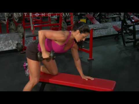 kickback - Increase strength in the triceps with triceps kick backs. Learn about muscle growth with arm exercises in this fitness video.