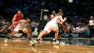 Terrence Ross' Fancy Behind-the-Back Dish to Valanciunas