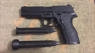 KJW P226 Gas Blow Back Pistol Review! Green Gas/Co2