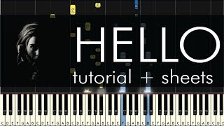 Hello - Piano Tutorial - How to Play - Adele