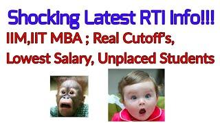 Video Latest Shocking RTI Information- IIM,IIT MBA -Real Cutoffs;Lowest Package,etc MP3, 3GP, MP4, WEBM, AVI, FLV Desember 2018
