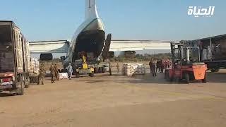 مطار بوفاريك: الهلال الأحمر يباشر شحن المساعدات للمخيمات الصحراوية