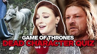 We put the Game of Thrones cast's knowledge to the ultimate test: can they remember the names of their forgotten former ...