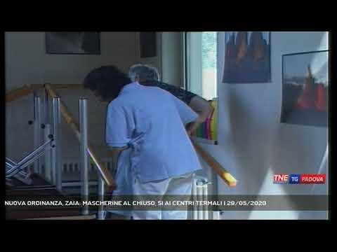 NUOVA ORDINANZA, ZAIA: MASCHERINE AL CHIUSO, SI AI CENTRI TERMALI   29/05/2020