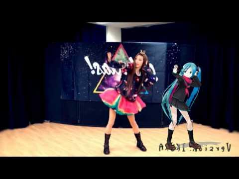 日本最有名的虛擬偶像-初音未來,竟然和正妹一起跳舞
