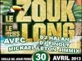 LE ZOUK LE PLUS LONG en MARTINIQUE le 30 avril 2013
