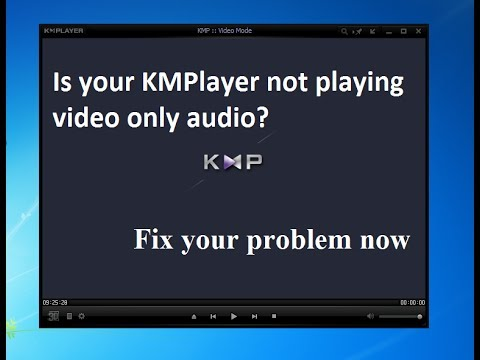 kmplayer not playing video only audio