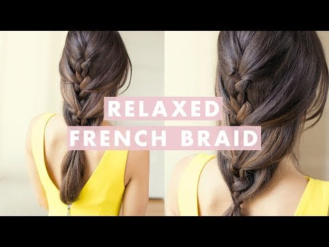 french braid - Relaxed French Braid is an ideal everyday hairstyle. It's a cute hairstyle that's perfect for school, work or a date. Try it out and post your recreations on...