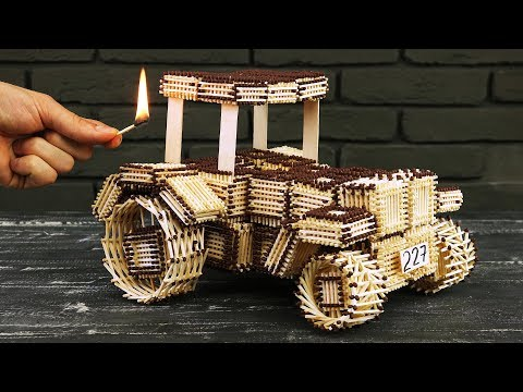 How to Make Tractor John Deere from Matches Without Glue