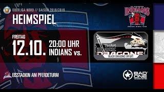 Video EC Hannover Indians vs Black Dragons Erfurt 12. Okt. 2018  Eishockeyoberliga Nord MP3, 3GP, MP4, WEBM, AVI, FLV Oktober 2018