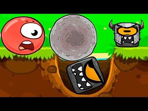 КРАСНЫЙ ШАР И ОДНОГЛАЗЫЕ КВАДРАТЫ Новый Мультик Игра для детей Несносный Шарик Red Ball 4 детский (видео)