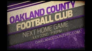 Oakland County Football Club takes on the Toledo Villa FC in this two part home game from July 1st, 2017. Goals by Nwokoye at 0:42 & 14:55.