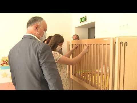 Президент страны посетил детский сад «Лэстэраш» и Дом культуры села Дрэгушень Страшенского района