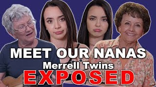 """This week on Merrell Twins Exposed, we went and visited our grandmas! What are your grandmas like? Thank you to both Nanas for being in the video! We love you! YOU ARE ALL OUR SUNSHINES. Subscribe to Our Channel: http://bit.ly/2dSP9FgSubscribe to our OTHER CHANNELS!!!!!MERRELL TWINS LIVEhttp://bit.ly/2pYeuoSMORE MERRELLhttp://bit.ly/2rITMIfCheck Out Our Other Videos:MERRELL TWINS EXPOSED EP1https://www.youtube.com/watch?v=mWXurqWRA74DAD BUYS DAUGHTERS OUTFITShttps://youtu.be/ZyjEPbA865YDUNK HAT CHALLEGEhttps://youtu.be/jMUfhHgxqLITHIS COULD BE YOU - Viral Trendshttps://youtu.be/FNr2SvPwzycDANCE PARTNER CHALLENGEhttps://youtu.be/1m0gP0L9ynUTESTING WEIRD PRODUCTShttps://youtu.be/CO9KR-8y1gIGet Merrell Twins Merch:https://www.districtlines.com/Merrell-TwinsWE HAVE MERRELL TWINS SOCKS!!!! 😱 Click this link to get our, """"These Are My Tuesday Socks"""": https://featsocks.com/products/merrell-twinsFOLLOW @featsocks :) SNAPCHAT: @merrelltwinsTWITTER: https://twitter.com/MerrellTwinsTWITTER: https://twitter.com/VanessaMerrellTWITTER:  https://twitter.com/veronicamerrellINSTAGRAM: http://instagram.com/merrelltwinsINSTAGRAM: http://instagram.com/vanessamerrellINSTAGRAM:http://instagram.com/veronicamerrellFACEBOOK: https://www.facebook.com/MerrellTwinsWEHEARTIT https://www.weheartit.com/merrelltwinswww.merrelltwins.com"""