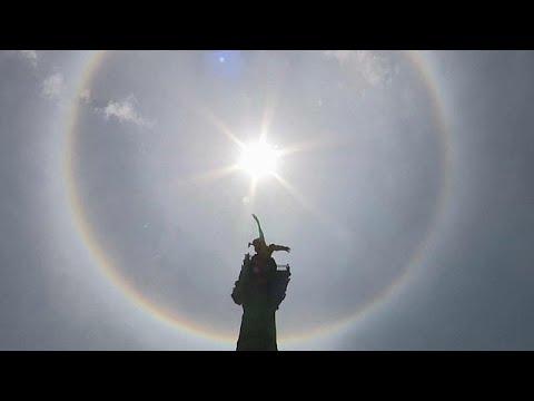 Μεξικό: Ηλιακή άλως πάνω από τον Άγγελο της Ανεξαρτησίας…