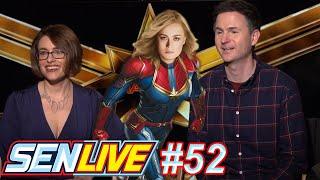 Captain Marvel Loses Both Directors! - SEN LIVE #52 by Schmoes Know