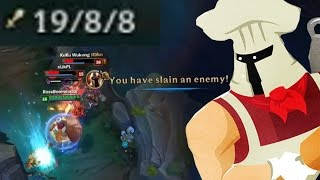 INSANE MAN ONE-SHOTS 19 PEOPLE WITH A BAGUETTE!! - The Solo Queue-Crusader - League of Legends