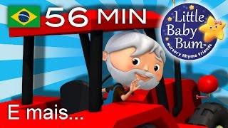 Os melhores vídeos educativos no YouTube - belíssima e colorida animação 3D em fantástico HD!Grande compilação da LBB! Agora disponível para compra/descargahttps://bamazoo.com/littlebabybumbrazilBrinquedos: http://littlebabybum.com/shop/plush-toys/© El Bebe Productions Limited00:04 O Agricultor vai pro vale01:18 Uma Batata03:14 Faça um bolo04:13 Seis Patinhos06:07 A canção do ABC (Balões)08:01 A Família dos Dedos09:04 Cabeça, Ombros, Joelho e Pé - Versão 211:40 Canção do Sorvete13:03 A Senhora Juninho14:36 Senhor Sol16:20 Seu MacDonald tinha um sítio - Versão 218:36 Chuva, chuva, vá embora20:36 Canção das Cores e Objetos21:49 Gira, gira a roda23:18 Cinco Macaquinhos - Versão 125:13 Dizendo as Horas (Que Horas São)26:52 O Urso Subiu a Montanha28:42 Cinco Monstrinhos30:21 O velhinho33:09 Canção ABC das Bolhas35:13 Brilha Brilha Estrelinha - Parte 3 - Índia37:09 As rodas do ônibus - Versão 439:00 Cinco pequenos sapos41:30 Pães Quentinhos42:46 As rodas do ônibus - Versão 544:40 12345 Eu peguei um peixe vivo45:59 A Dona Aranha - Versão 247:25 Canção do Zoo49:19 Este Porquinho50:59 Viajando no meu carro52:27 Joãozinho, Sim Papai53:36 Três Gatinhos - Versão 2