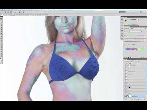 Removing Red Blemishes and Pimples from Skin in Photoshop