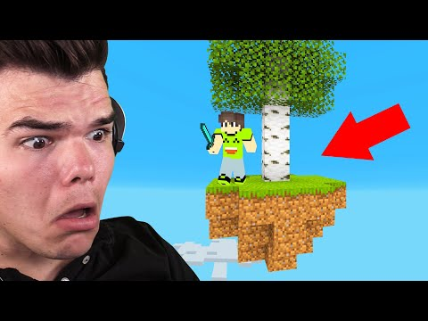 Playing SKYBLOCK In MINECRAFT! (I Almost Died)