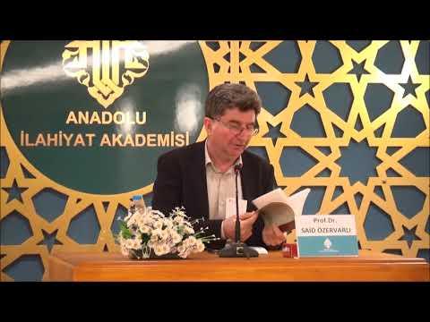 "Prof. Dr. Said ÖZERVARLI ile ''İBN TEYMİYYE"" Konulu Seminer"