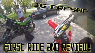 8. First Ride and Review 2016 Honda CRF50F