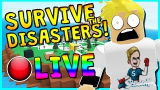 • SURVIVE THE DISASTERS WITH SUBSCRIBERS!?   ROBLOX LIVESTREAM   COME HANG OUT!