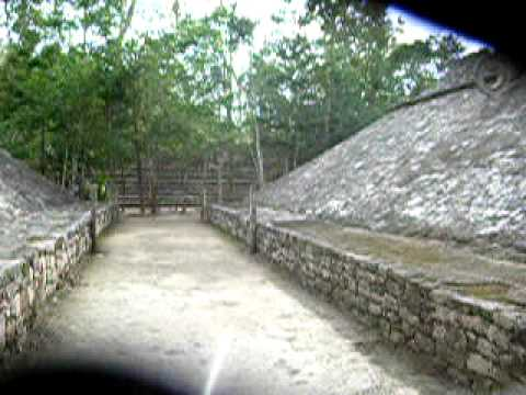 tonkaboy74 - This passage-way was used by the Mayan ballplayers before engaging in their ballgame at Coba, Mexico. This was filmed in 2006.
