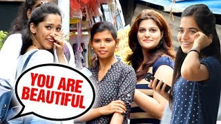 Video You are Beautiful | Girls Unbelievable Reaction | Prank in India | Part 2 MP3, 3GP, MP4, WEBM, AVI, FLV April 2018