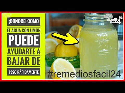 Dieta para bajar de peso - Como El AGUA Con LIMON Puede Ayudarte a Bajar de PESO Rapidamente  Como Preparar Agua con Limon
