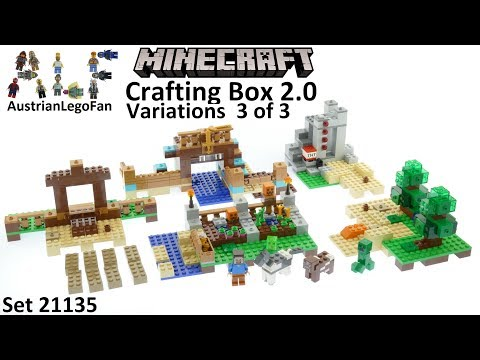 Lego Minecraft 21135 Crafting Box 2 0 Variations 3of3 - Lego Speed Build