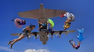 World's Longest Slip and Slide Out of an AIRPLANE! - Filmed on Canon EOS R!