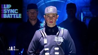 "Video Joseph Gordon-Levitt's ""Rhythm Nation"" vs. Anthony Mackie's ""2 Legit 2 Quit"" 