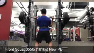 Front Squat 355lb (161kg) New PB