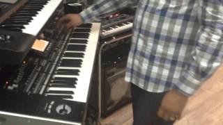 Korg Pa3x عرض احد مزايا الجهاز بأستخدام صوت الكمان