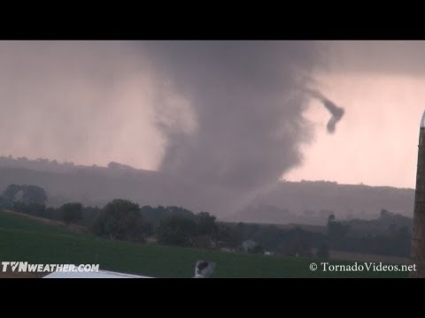 iowa - Storm chasers Daniel Betten, Brandon Lawson and Brett Roberts filmed a long-lived tornado in Woodbury Co., IA, between 6:30-7pm CDT. The tornado started as a...