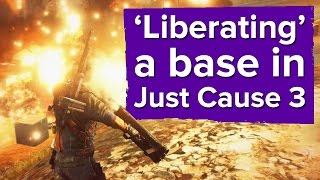 Gameplay - liberazione di una base