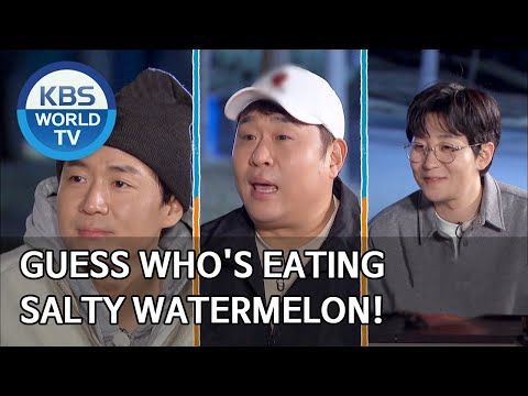 Guess who's eating salty watermelon! [2 Days & 1 Night Season 4/ENG/2020.04.12]