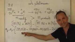 Cours TS Physique / Nucléaire Ch5 Perte De Masse Au Cours D'une Réaction Nucléaire