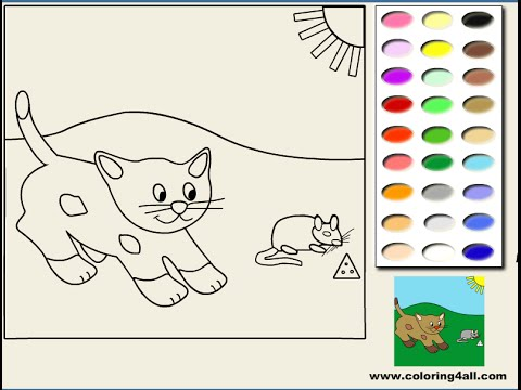 CAT Coloring Pages Color Online Free Printable