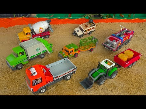 Construction Vehicles with Street Cars Toys Unboxing for Kids #2