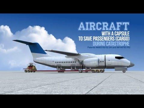 航空工程師花3年設計出來的「分離式飛機」,讓大家都相信未來就算飛機失事也不會有人死亡了!