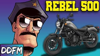 6. The Cops Sure Do Love The Honda Rebel 500...