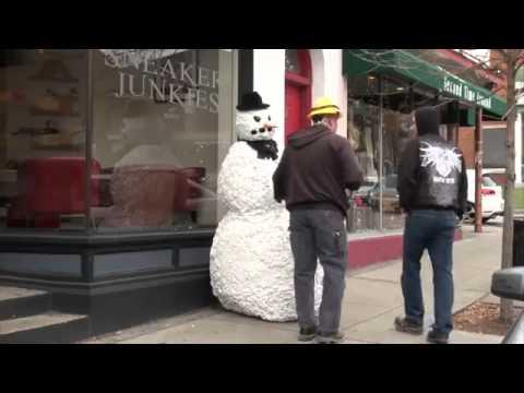 Le prank du bonhomme de neige